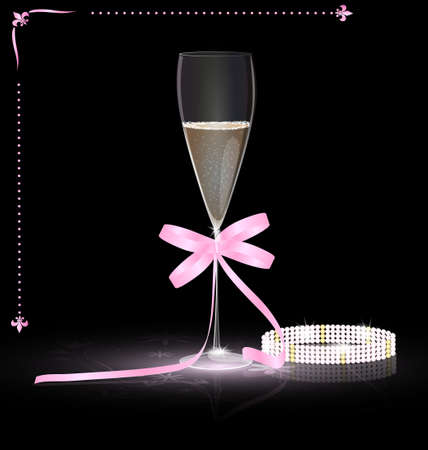 glamour champagne Stock Vector - 11258192