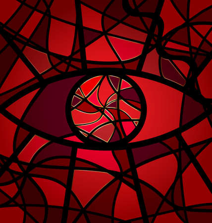 abstract eye: red background variation Illustration