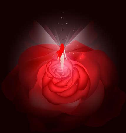 rose fairy Stock Vector - 11258213