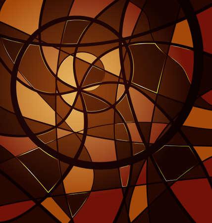 braunem Hintergrund Variation: abstraktes Bild aus Linien