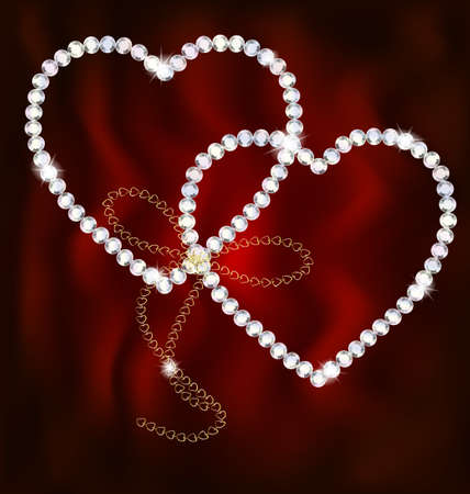 light chains: two jewel hearts