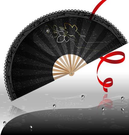 black fan: black  fan Illustration