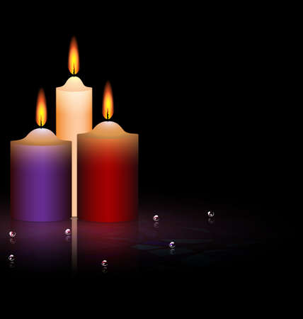 combust: three candles