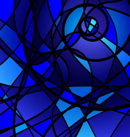 interweave: blue background variation Illustration