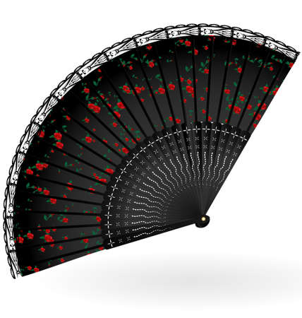 retro black fan Vector