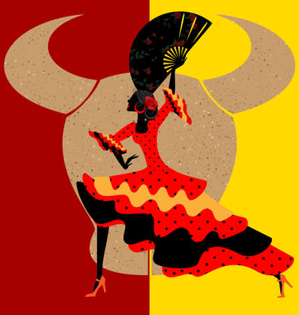 spanish woman: Spanish flamenco