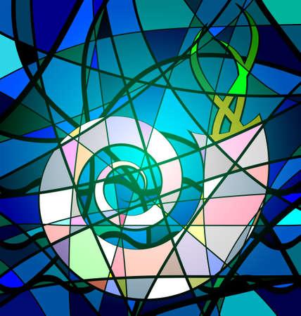 abstrakten Hintergrund Schale