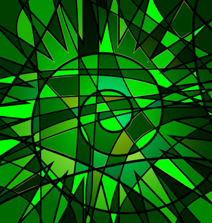verdant: green background variation: abstract image consisting of lines