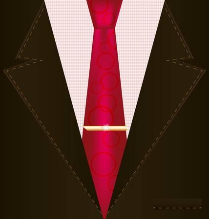 dress coat: sfondo marrone fantasia costume maschile con cravatta rossa