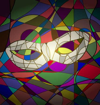 abstrakten Hintergrund Karnevalsmaske Bild aus Linien