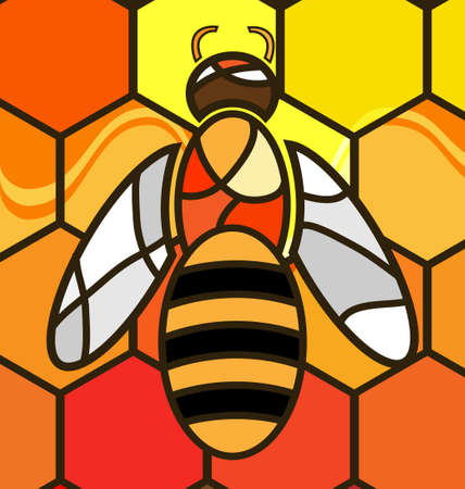 yelllow: multy-color background variation  abstract image bee consisting of lines