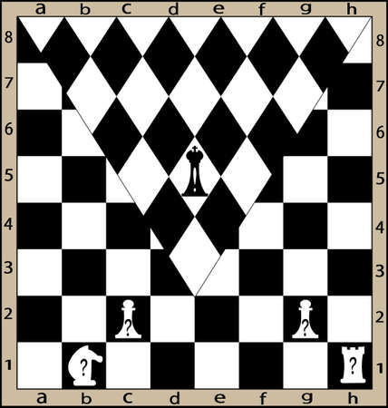 unusual move on the chess board Vector