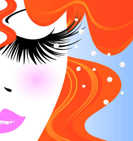 eyelashes: abstract outlines of woman