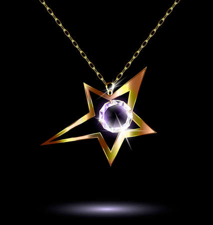 neckband: pendant with a large star