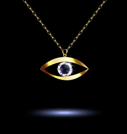 neckband: pendant with eye Illustration