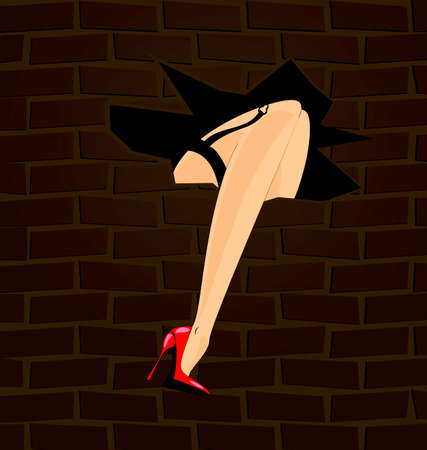 vermilion: feet and wall