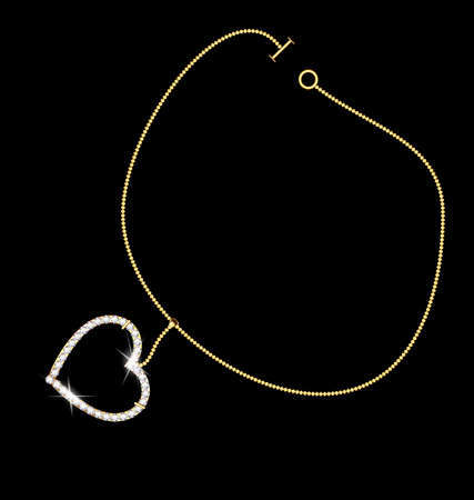 chainlet: bracelet and heart