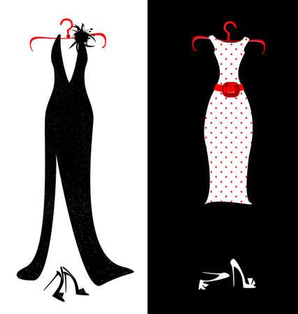 traje de gala: vestidos y zapatos