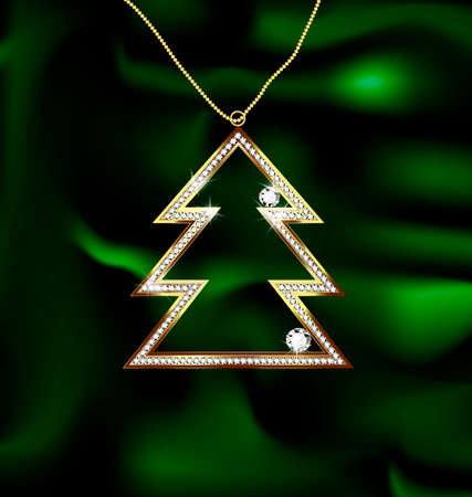 adamant: jewel Christmas tree Illustration