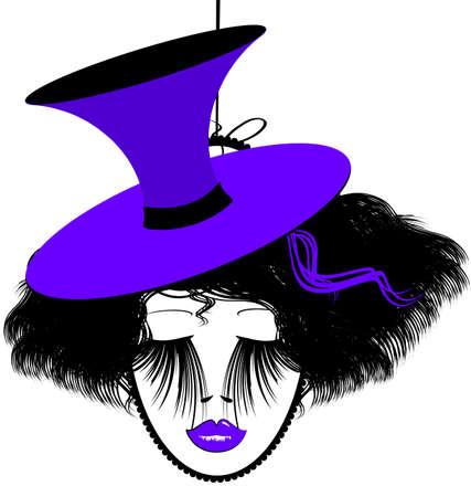 image of black-purple dame
