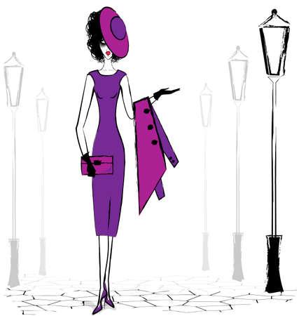 vermeil: walking lady