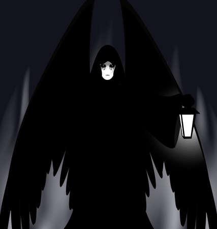 daemon: gothic angel Illustration
