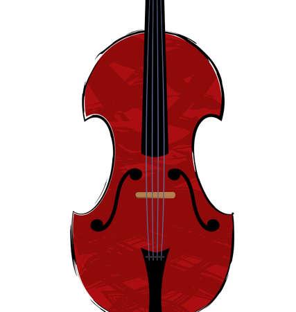 geigen: Geige Illustration