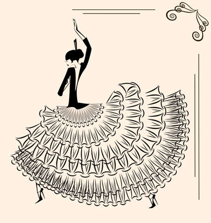 spanish dancer: image of dancer flamenco Illustration