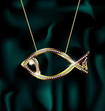 golden fish: jewelry fish