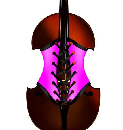 geigen: Geige und Korsett