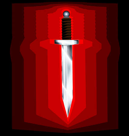 abstract black-red background and a large knife Imagens - 34885677