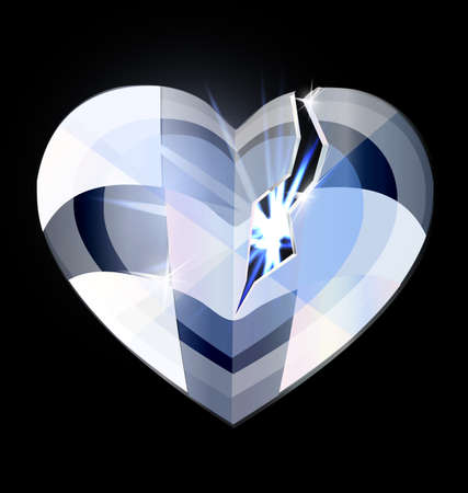 illuminator: broken ice heart-crystal Illustration