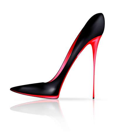 black red shoe