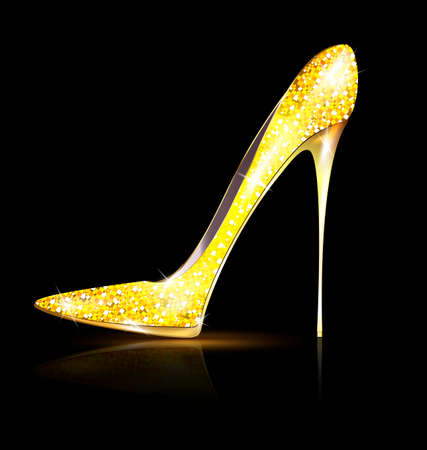 heelpiece: gold shoe