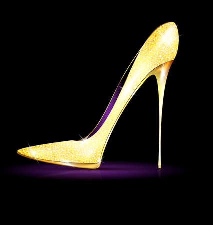 heelpiece: big gold shoe