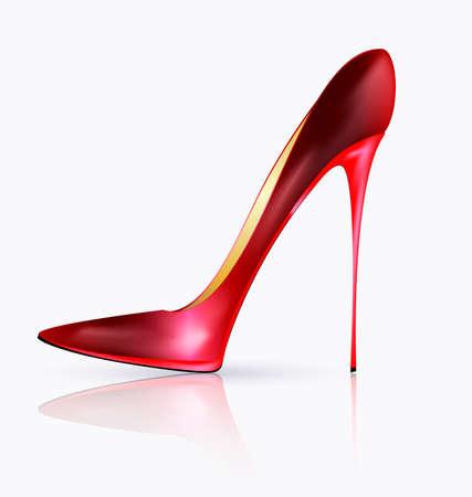 heels shoes: big red shoe