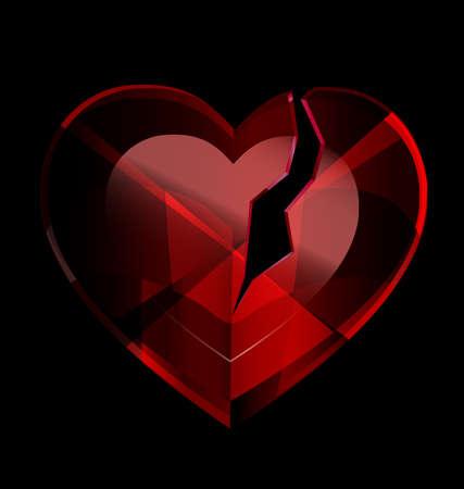 broken heart-crystal