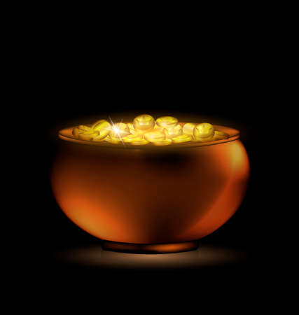 golden pot: dark pot of gold