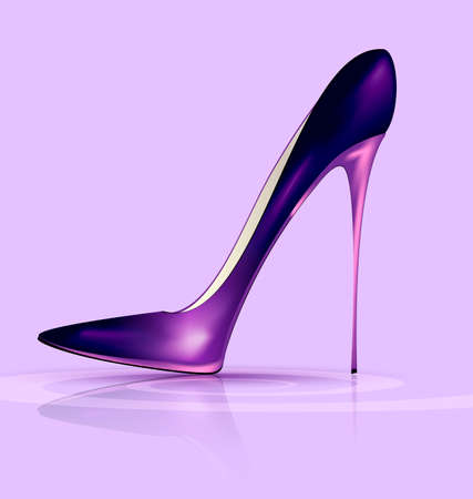 lilac background and the purple ladys shoe