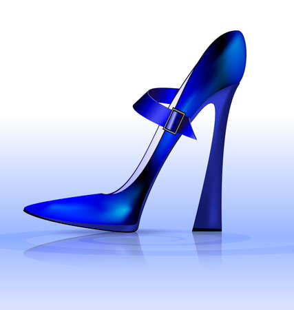 heelpiece: blue funny shoe Illustration