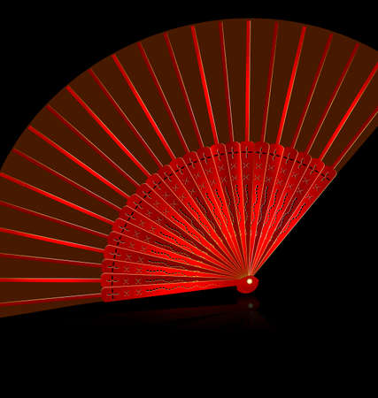 vermilion: red fan