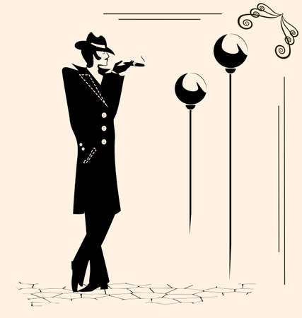 he is beautiful: smoking man Illustration