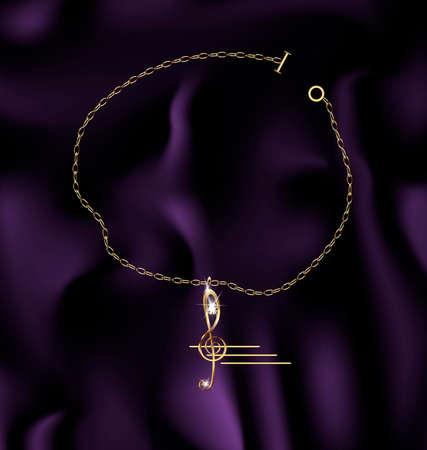 bracelet treble clef Vector