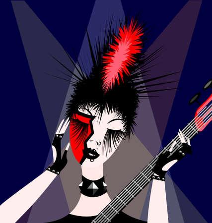 dark haired woman: rock girl