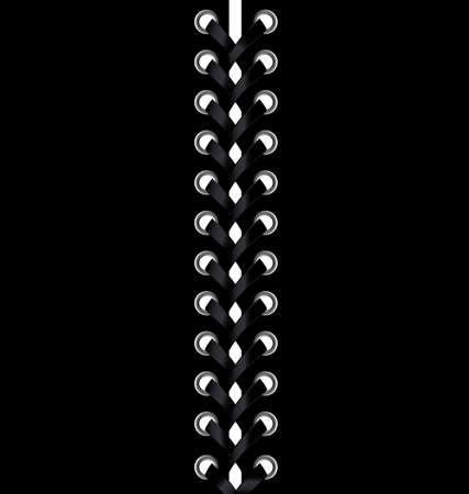 black fabric: dark background and a large black lacing Illustration