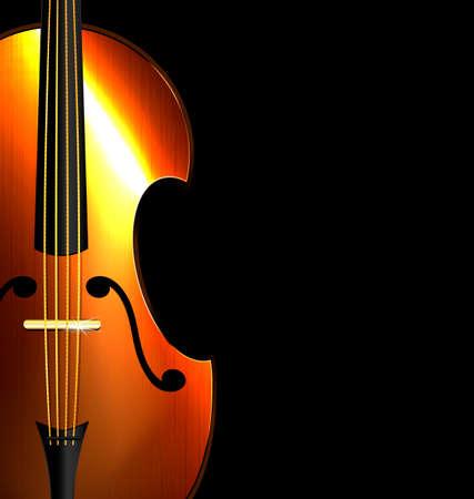 húros: a fekete háttér az absztrakt húros hangszer