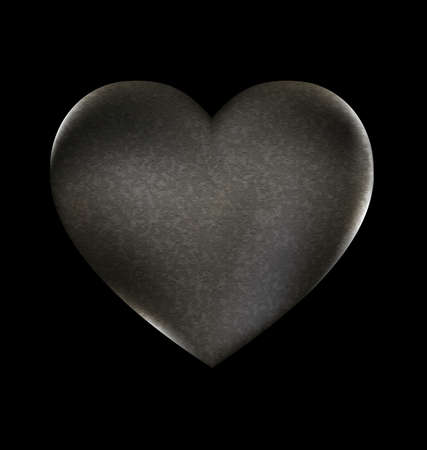 harsh: a dark background and a large heart-stone