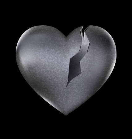 lock block: a dark background and a large broken heart-stone