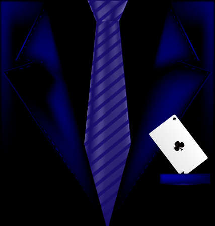 man's suit: the image of a mans suit with an ace in your pocket Illustration