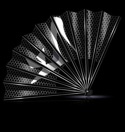 portative: dark background and the white ace fan with image of shoe Illustration